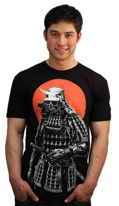 Samurai warrior T-shirt by barmalizer from Design By Humans. Samurai Warrior. This Warrior of the past has come back to roam the earth. Black and white art set against a bright red moon. Japanese influences and detailed illustration make this tee a must have. Fearless fashion meets amazing hand drawn art, ending in a cool graphic tee.  for $20