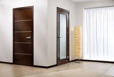 Modern Home Luxury - Mia Vetro Modern Interior Door Wenge Finish