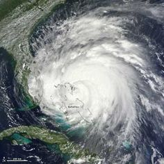 Hurricane Irene from a satellite.  2011