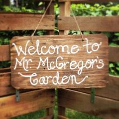 Mr. McGregor's Garden Sign - Brossie