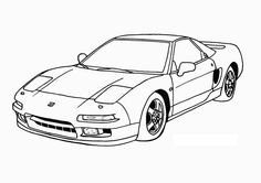 Top Super Race Car Angle View Coloring Page