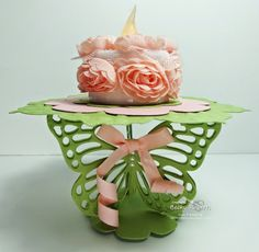 My May Gift To You Cardboard Cake Stand, Becky Roberts, Butterfly Table, 3d Paper Crafts, Candy Wrappers, 3d Projects, Stampin Up Cards, Card Making, Idaho