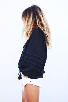 florence blouse // black