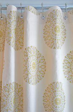 Custom Shower curtain by Tonic Living in Chakra Handprint fabric