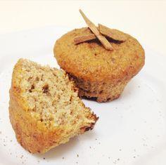 Muffin de Banana & Canela (sem gluten/açúcar/lactose) - fiz com aveia e sem farinha de linhaça. Testar acrescentando-a)
