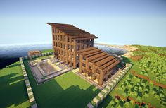 Cool minecraft house design ideas - House and home design Minecraft Wooden House, Minecraft Horse, Minecraft Houses Blueprints, All Minecraft, Minecraft House Designs, Amazing Minecraft, Cool Minecraft Houses, Minecraft Creations, Minecraft Ideas