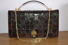 Handmade, Vintage - Pixalia - haine si accesorii faine: REDUCERE !!! Geanta vintage din piele de crocodil ...