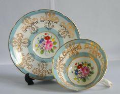 Royal Grafton Blue Floral Cup & Saucer