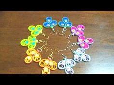 50. New Design Peacock feather Quilling Earrings Tutorial - YouTube