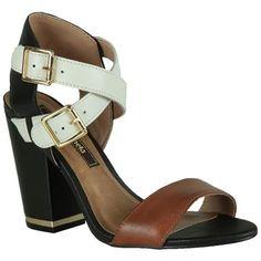 Sandália Cravo e Canela Salto Grosso #Summer #Spring #Love #Shoes #Sandalias #Trend #Fashion