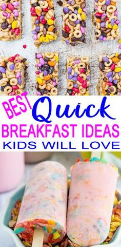 Quick Breakfast Ideas For Kids – Easy & Simple On The Go Morning Breakfast Ideas TASTY quick breakfast ideas for kids! On the go breakfast that kids will love. Homemade breakfast meals even picky eaters will want. School Breakfast, Breakfast On The Go, Make Ahead Breakfast, Homemade Breakfast, Morning Breakfast, Healthy Kids Breakfast, Breakfast Dishes, Morning Food, School Lunch