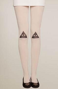 Knee Vision Tights, $15 | 39 Pairs Of Statement Tights Just In Time For Fall