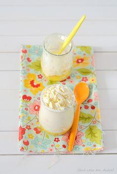 Mousse de chocolate blanco con crema de mandarina