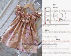 Moda e Dicas de Costura: VESTIDO DE CRIANÇA 5/6 ANOS FÁCIL DE FAZER