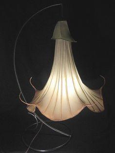 Handmade paper light by Kestrel Gates of HiiH Gallery… Diy Luminaire, Luminaire Design, Paper Light, Light Art, Diy Light, Custom Lighting, Lighting Design, Lighting Ideas, Paper Lanterns