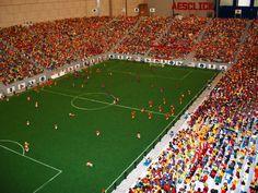campo de fútbol playmobil diorama
