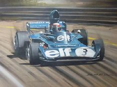 Jackie Stewart racing at the Dutch Grand Prix with the Ford Tyrrell team 1973