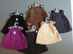 Doll clothes – Nathou kikou but not only ! Baby Doll Clothes, Crochet Doll Clothes, Doll Clothes Patterns, Clothing Patterns, Baby Couture, Couture Sewing, Tutu Rock, Tilda Toy, Journey Girls