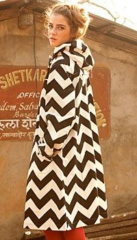 chevron coat!