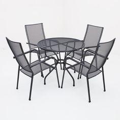 Kettler Quito stapelbaar met strekmetalen tafel - 90cm