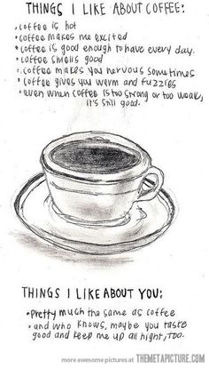 Things I really like about coffee…