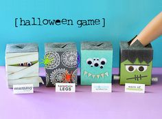 Halloween Feel Boxes | Lisa Storms A new take on the old peeled grapes and cold spaghetti of yesteryear