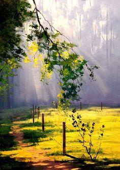 Australian Impressionist Landscape painter-Graham Gercken 1960 - Fine Art and You - Painting Impressionist Landscape, Landscape Oil Paintings, Scenery Paintings, Easy Nature Paintings, Landscape Artwork, Landscape Drawings, Fine Art, Beautiful Paintings, Beautiful Scenery