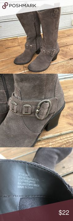 Bare Traps Toya Suede Leather Boots Awesome pair of brown suede boots. Great condition. Some wear on the heel.  Other than that, nice pair of boots. Size 6. Bare Trap Shoes Heeled Boots