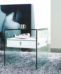 Bari Nightstand in White by CasaBianca