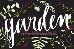 Garden by Los Andes Type on @creativemarket
