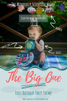 First Birthday Party Theme - The Big One - THE MINDFULLY SCIENTIFIC MAMA Colorful Birthday Party, First Birthday Party Themes, First Birthday Cakes, Birthday Ideas, Birthday Interview, Cake Smash Outfit, Photo Banner, Craft Activities, Party Planning