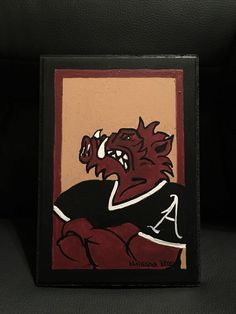 Arkansas Razorback Painting New Signed and Licensed | eBay