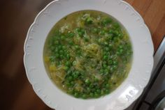 Peter Berley's Leek Soup with Peas and Sauerkraut from The Wednesday Chef