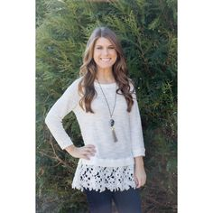 Frills & Lace Top- White LACE!  Yes, please!  LOVE this top!