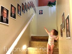 General Conference hallway! My kiddos love to walk by them and see if they can name them all.