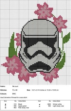 "kaplio-cross-stitch-maker: ""Stormtrooper Cross Stitch Pattern """