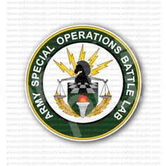 Army Special Operations Battle Lab Sticker