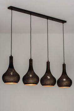 Modern Kitchen Lighting, Kitchen Island Lighting, Modern Light Fixtures, Home Lighting, Wood Pendant Light, Pendant Lighting, Retro Lamp, Sweet Home, New Homes
