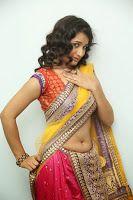 Santoshi New Hot Saree Photos, Telugu Herione Santoshi Sharma half saree stills at Toll Free Number 143 Audio Launch, Santoshi Sharma new photo stills