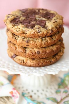 Salted Caramel Dark Chocolate Chunk Cookies  from @Amanda (Kevin and Amanda)