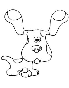 little blue dog coloring pages blues clues coloring pages kidsdrawing free coloring pages