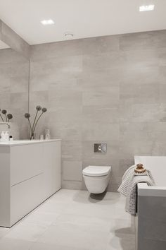 Bathroom Interior Inspiration Modern Ideas For 2019 Minimal Bathroom, Beige Bathroom, Small Bathroom, Light Grey Bathrooms, Serene Bathroom, Master Bathroom, Bathroom Toilets, Bathroom Renos, Remodel Bathroom