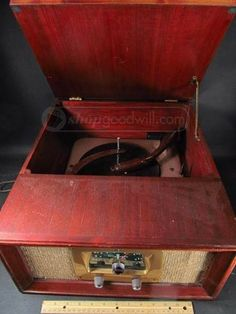 Olympic Radio Phono Wooden Record PlayerTurntable