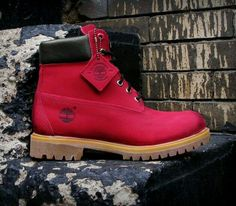 Timberland's in Wine Red