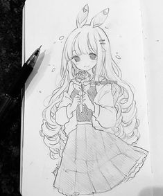 Anime Merchandise for all anime fans Anime Drawings Sketches, Anime Sketch, Kawaii Drawings, Manga Drawing, Manga Art, Cute Drawings, Storyboard Drawing, Pencil Drawings, Anime Girl Neko