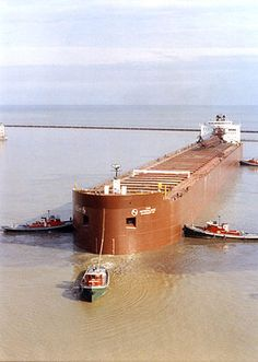 Michigan Freighters - These pass in front of our house on the Straits of Mackinac many times a day and night