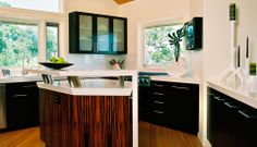 From ceasarstoneus.com. I love the kitchen design inspirations
