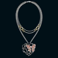 Necklace in gold with diamonds and rubies by Staurino Fratelli
