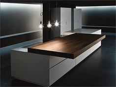 :: KITCHENS :: VERVE sliding top company: Minimal USA #kitchens
