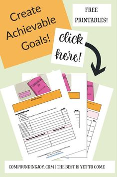 Create achievable goals this year goals & goal setting Free Printable Worksheets, Printable Quotes, Printable Planner, Free Printables, Smart Goal Setting, Goal Setting Template, Set Your Goals, The Best Is Yet To Come, Personal Goals